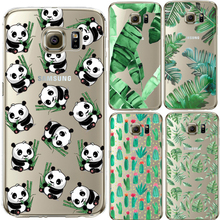 Cute Panda Case Cover For iPhone 4S SE 5 5s 6 6S 7 Plus For Samsung Galaxy S3 S4 S5 S6 S7 Edge S8 Plus J3 J5 J7 A3 A5 2016 2017