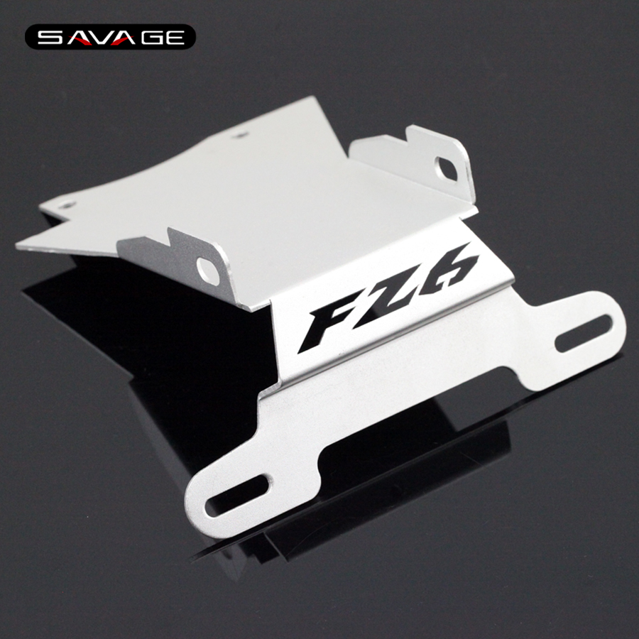 For YAMAHA FZ6 N/S FZ6N FZ6S FZ-6N 2004-2009 Silver Motorcycle Tail Tidy Fender Eliminator Registration License Plate Holder<br>