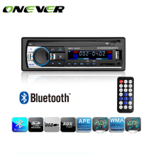 Onever Bluetooth Car Audio Stereo 60WX4 Car Radio 12V In-dash 1 Din FM Aux Input Receiver USB MP3 MMC WMA Car Radio Mp3 Player(China)