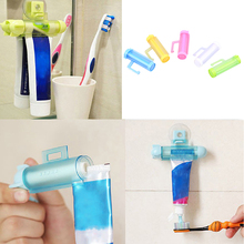 3pcs Plastic Rolling Toothpaste Tube Squeezer Toothpaste Dispenser With Sucker Hang Holder Roller Banyo Aksesuar Random Color(China)
