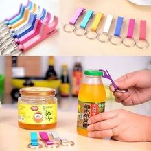 1pc Lovely Bottle Opener Aluminum Wine Bear Bottle Opener Ring Keychain Key Chain Lovely Cooking Tool Random Color Delievery(China)