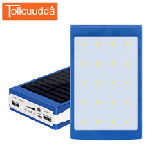 Tollcuudda Smartphone Outdoor/Indoor 10000mAh Powerbank External Portable Battery Pack Universal Solar Power Bank for Sumsung(China)
