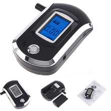 Digital alcohol tester with blue backlight Prefessional Police Digital Breath Alcohol Tester Breathalyzer(China)