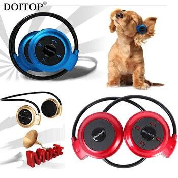 DOITOP Foldable Neckband Sport Music Wireless Bluetooth Earphone Handsfree Stereo Headset Earpiece Headphone Support TF Card