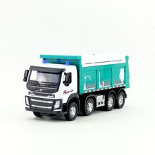Free Shipping/1:50 Scale/Diecast Model/Volvo Dump Truck/Engineering Car/Sound & Light/Educational Collection/Gift For Children(China)