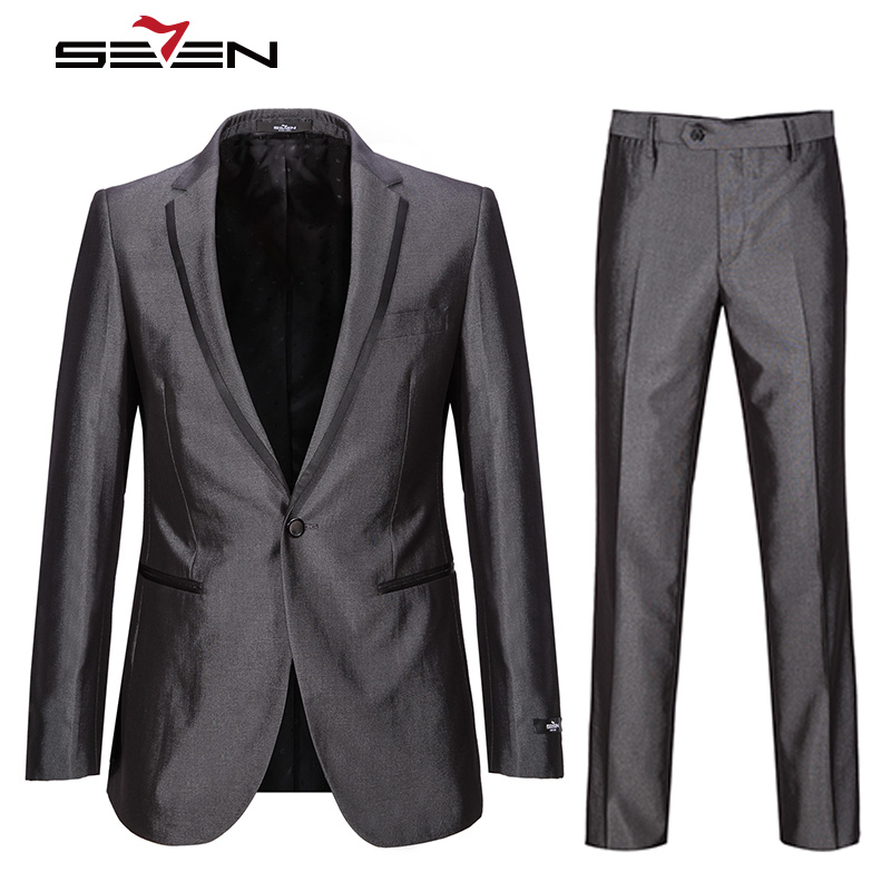 Seven7 Brand 2017 New Men's Fashion Business Suits High Quality Suits Classic Wedding Suits Men's Office Formal Suits 705C1443(China)