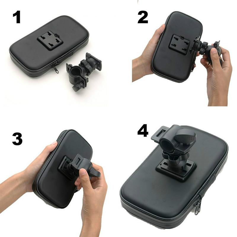 Fimilef Motorcycle Bike Ride Phone Waterproof Bag Case Adjustable Holder Handlebar Mount Dustproof Bag Navigation Phone Stand (8)