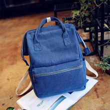 Original Jeans Denim Backpack For Girls Casual Fashion School Backpack Portable Washable Men Women Tote Backpack Multi function