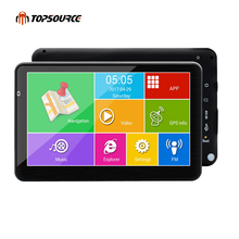 TOPSOURCE 7 inch car gps navigation android 16GB AVIN automobile navigator Europe/USA/Russia/Spain/navitel Map truck gps sat nav(China)