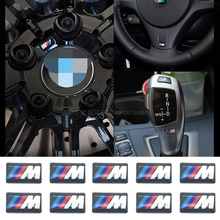 10PCS M Mpower M-tech Emblem Badge Sticker Wheel Decal for BMW E46 E30 E34 E36 E39 E53 E60 E90 F10 F30 M3 M5 M6 Car styling(China)