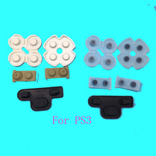100sets Conductive Rubber Pads For Sony Playstation 3 PS3 Controllers Buttons Repair Parts Clear(China)