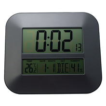 DCF Radio Controlled Time RCC Digital Wall Clock with Temperature Thermometer Humidity Hygrometer/Decorative Table Alarm Clock(China)