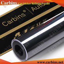 Carbins Film High  Glossy Black 5D Carbon Fiber Vinyl  Wrap Film Black  1.52*20m Custom Car Stickers