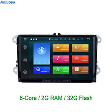 Octa Core Android 6.0.1 2 Din CAR DVD GPS Player For Skoda VW Volkswagen golf 5 golf 6 Polo Passat Tiguan Jetta sharan Touran 3G(China)