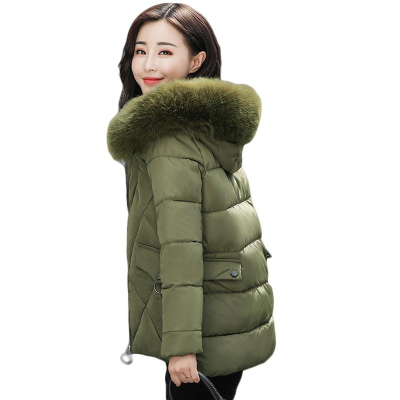 High Quality 2017 Women Winter Jacket Girls Elegant Large Fur Hooded Short Slim Cotton-padded Parkas Coat Plus Size 4XL CM1384Îäåæäà è àêñåññóàðû<br><br>