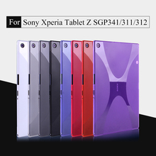 "High Quality X Line Matte Gel TPU Silicone Case Skin Rubber Protective Shell Cover Pouch Bag For Sony Xperia Z / Z1 10.1"" Tablet"