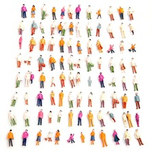 Standing Pose Assorted 100pcs HO Scale Model Train Street People Figure New