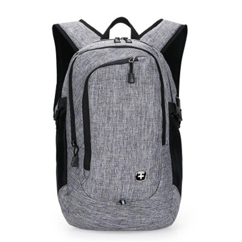 Fashion 18 inch Brand External USB Charge Backpack Male Mochila Escolar Laptop Backpack men women Multifunction School Bags <br>