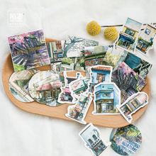 45 pcs/lot Travel Landscape mini paper sticker decoration DIY ablum diary scrapbooking label sticker kawaii stationery