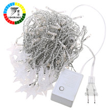 Coversage 10M 100Leds 2Pcs Fairy String Lights Christmas Tree Curtain Outdoor Home Decorative Fairy Curtain Garlands Lights