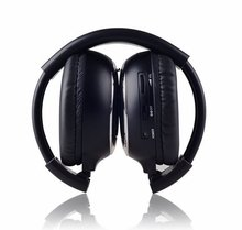 Freee shipping Infrared Stereo Wireless Headphones Headset IR in Car roof dvd or headrest dvd Player two channels(China)