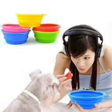 Folding Pet Bowls Silicone Pets Bowl Portable Dog Feeding Bowls Pet Cat Dogs Drinking Water Tools