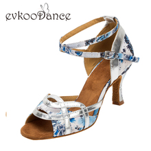 New Seller Zapatos de baile latino suede sole 7cm 6cm 5cm low heel latin dance shoes Woman NL019(China)
