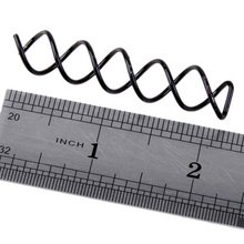 5x 10x Black Spiral Hair Pin Clip Bun Stick Pick for DIY Hair Style / Sleek
