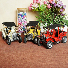 Painting Old Car Desktop Models Three-color Handmade Craft Collection Furnishing Article Fine Home Decoration Best Children Gift