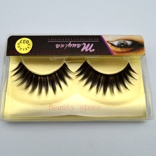 1 Pair High Quality Thick Tapered Medium False Eyelashes Eye Lash Extension DIY Makeup IDH3 Set Free Shipping 037#