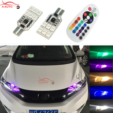 2 x T10 W5W 194 LED Parking Marker Light 5050 SMD RGB Bulb For Honda Accord Tesla honda civic crv hrv accord scooters