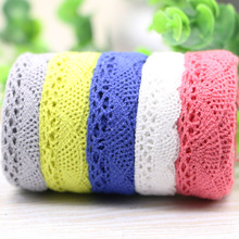 5YARD  Braided Cotton Lace Trim For DIY Sewing Curtain Craft Decorative 15-2MM Lace Fabric Ribbon
