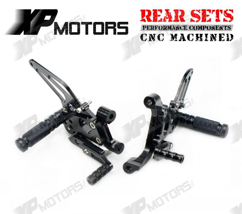 CNC Foot pegs Adjustable Rearset Footrest Rear Sets For Ducati 899 Panigale 2014-2015 Black<br><br>Aliexpress