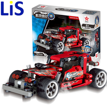 Lis 169pcs King Steerer Transport Cruiser SUV Technic Truck Racing Car Model Building Block Toys Decool 0403