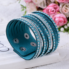 2015 New Products Sell Like Hot Cakes Fashion Charm Double Circle Multilayer Leather Bracelets Men&Women Bracelet!(China)