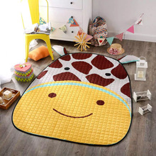 Hot Animal Ears Giraffe Cartoon Rugs Kids Room Carpets Toy Storage Bags 100% Cotton Baby Crawling Picnic Mat 150cm Birthday Gift
