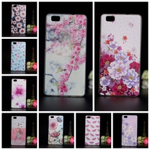 Luxury 3D Painted Mobile Phone Case For Huawei P8 Lite Colorful Protective Cases Soft TPU Capa Cover For Huawei Ascend P8 Lite