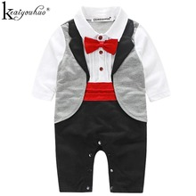 KEAIYOUHUO Children's Romper 2017 New Autumn Baby Clothes Gentleman Long Sleeve Romper Fashion Boy Clothing Casual Sportswear