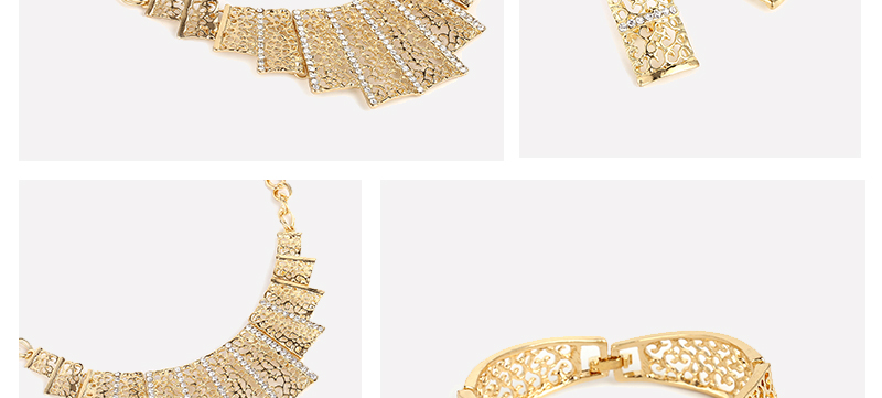 AYAYOO Jewelry Sets For Women Fashion African Beads Jewelry Set Nigerian Wedding Big Gold Color Costume Dubai Jewelry Sets (2)