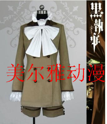 [Customize] Anime Black Butler Kuroshitsuji Ciel full set cosplay costume Any sizes NEW 2017 Free shipping