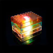 2017 Hot 1* DIY Building Blocks Display Base with LED Lights Colorful Kids Toys for Children Party Gifts Compatible Toys(China)