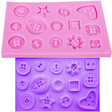 M162 Hot Selling Button Mold Cake Silicone Fondant Decorating Sugarcraft Baking Cupcake Cookie Chocolate Mould
