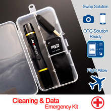 NEW LENS PEN cleaning & OTG TF data solution kit for iPad Galaxy Tablet Screen Cleaner in White Screen Phone Fingerprint(China)