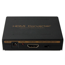 NEW 1080P hdmi to hdmi audio Optical SPDIF+RCA L/R Extractor Splitter Converter Adapter support 5.1CH LED indication DC 5V Power