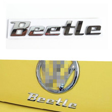 Car Styling 3D Metal Sticker Beetle Emblem Badge Chrome Letter Logo Decal For Volkswagen VW Beetle Rear Trunk Door Body TDI TSI