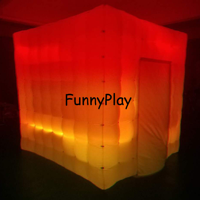 LED lighted inflatable photo booth7