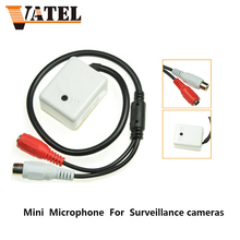 Mini AUDIO CCTV Microphone MIC For Security DVR  IP Camera Audio Monitor , Sound pickup Head, Free shipping