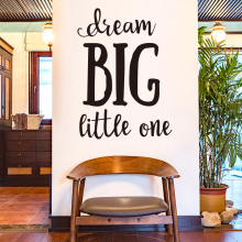 [SHIJUEHEZI] Customized Dream Big Little One Wall Sticker Quotes for Book Store Living Room Bedroom Office Decoration(China)