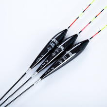 2 Color 3Pcs/lot Wooden Fishing Float Wood Pole Float Exquisite Bobber Buoy Fishing Float Tackle(China)