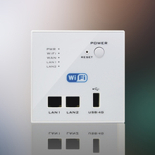 Free Shipping 300M Rate Black WIFI USB Charging WiFi Socket, USB Socket Wall Embedded Wireless AP Router Phone Wall Charge White